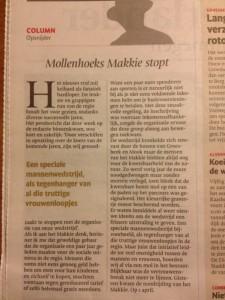 column Makkie Gelderlander, 2-4-'16