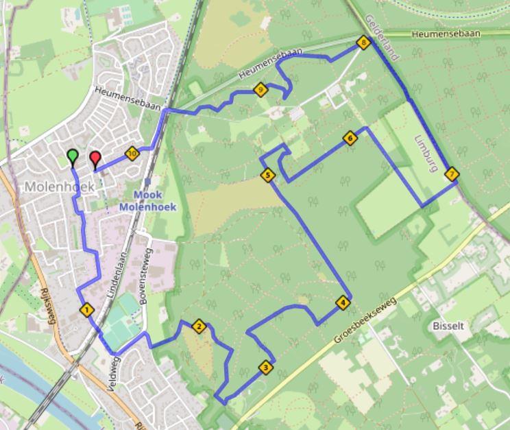 10 km route